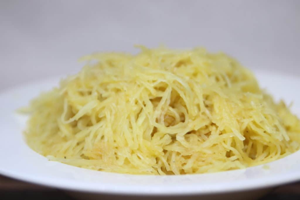 Bowl of baked spaghetti squash
