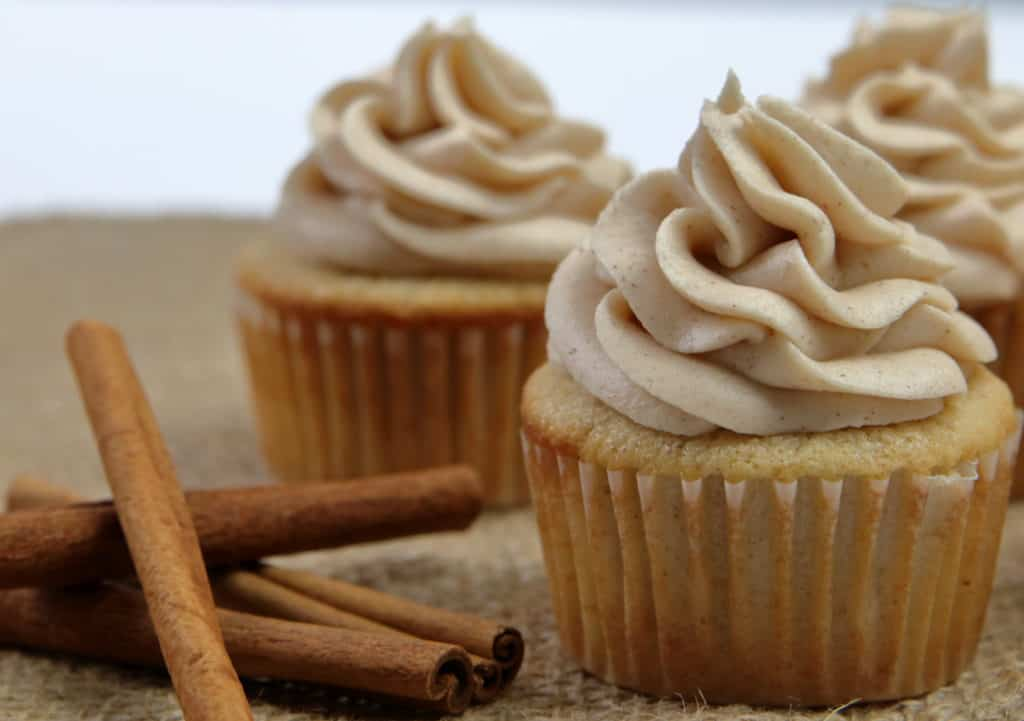 Horchata Cupcakes with Horchata Cream Cheese Buttercream