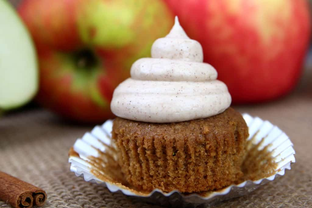 Spiced Apple Cider Cupcakes
