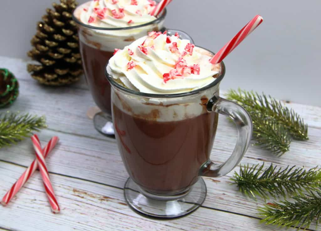 Dark Chocolate Peppermint Hot cocoa