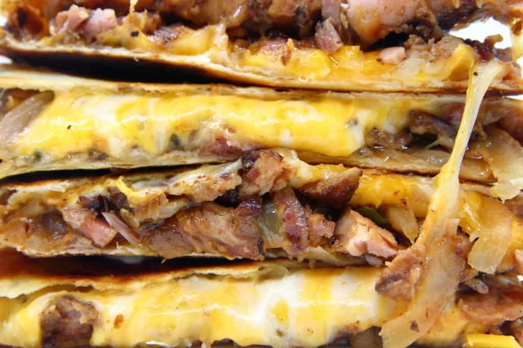 Cheesy Smoked Rib Quesadillas