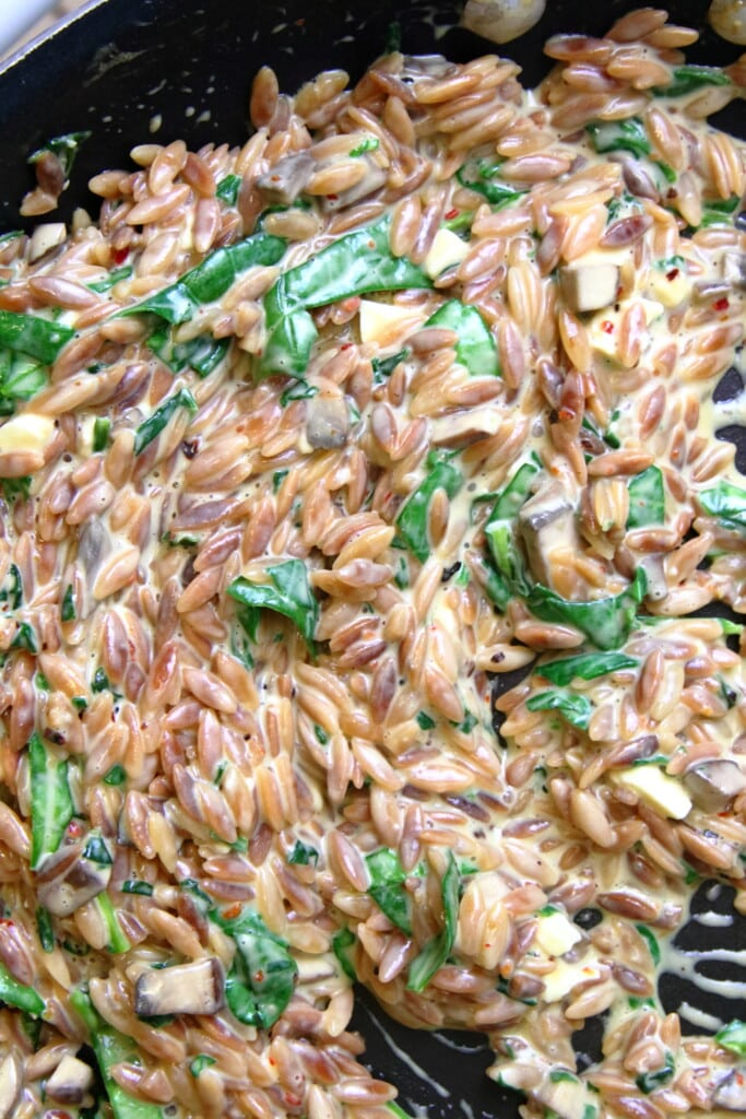Creamy Spinach and Parmesan Orzo