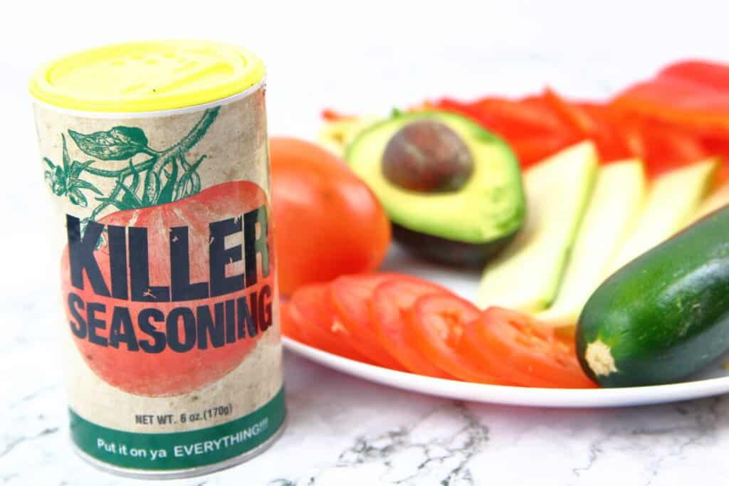 vegetables for sandwich with killer seasoning.