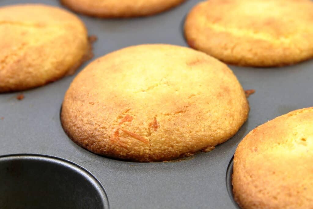 corn muffins in a pan