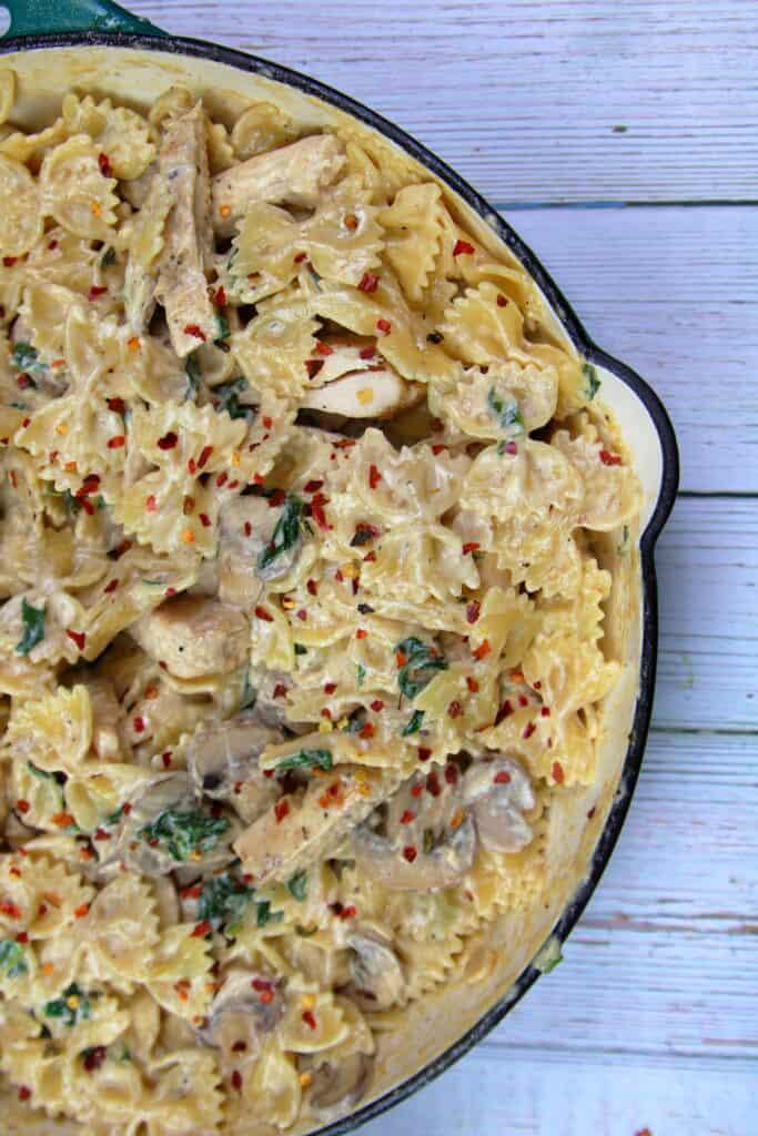 Bowtie Pasta with Mushroom Cream Sauce